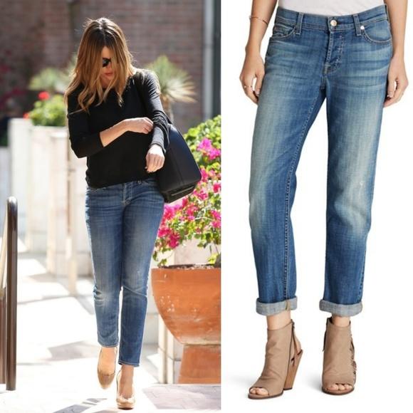 e812b73397da4 7 for all Mankind Denim - 7 FAM Josefina Skinny Boyfriend Jeans 0425
